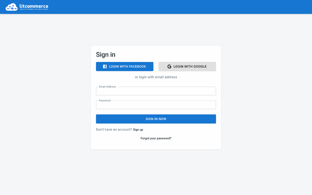 Sign in LitCommerce account
